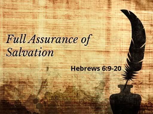 Full Assurance of Salvation