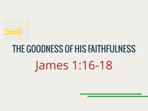The Goodness of His Faithfulness