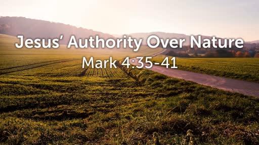 Jesus' Authority Over Nature
