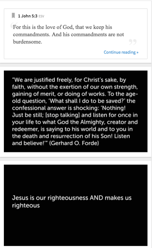 Guide listeners through your sermon with notes and Scripture references.
