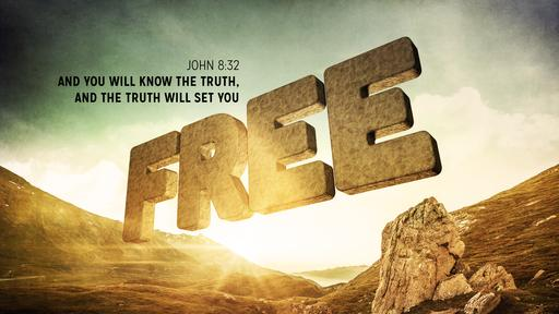 John 8:32 verse of the day image