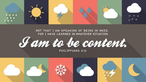 Philippians 4:11 verse of the day image
