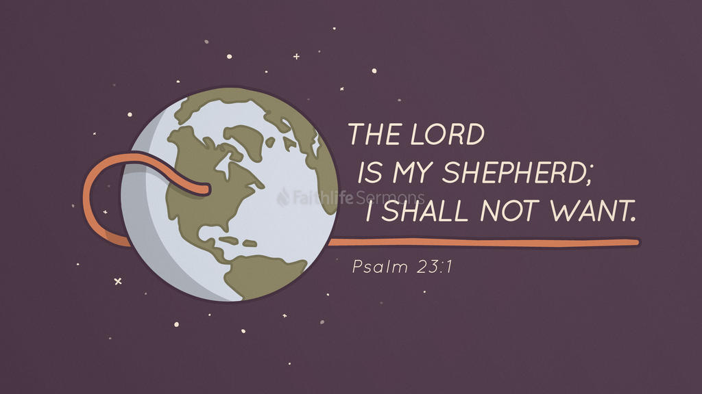 Psalm 23:1 large preview