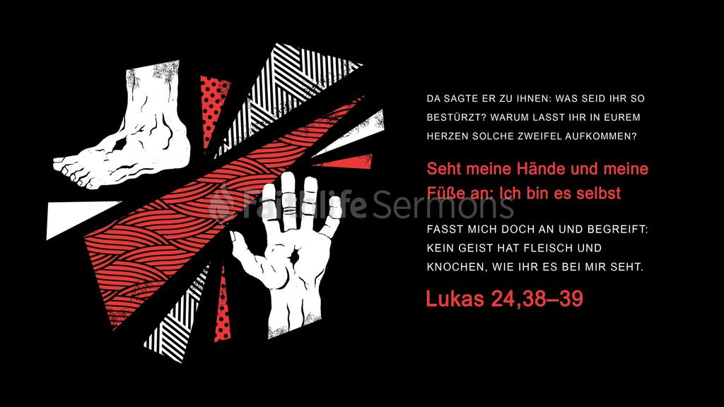 Lukas 24,38–39 large preview