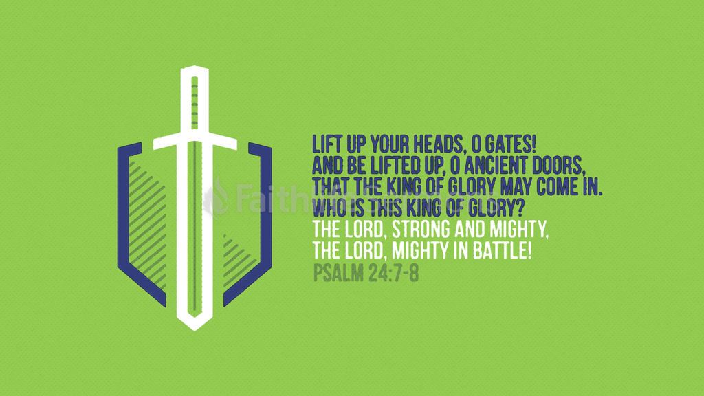 Psalm 24:7–8 large preview