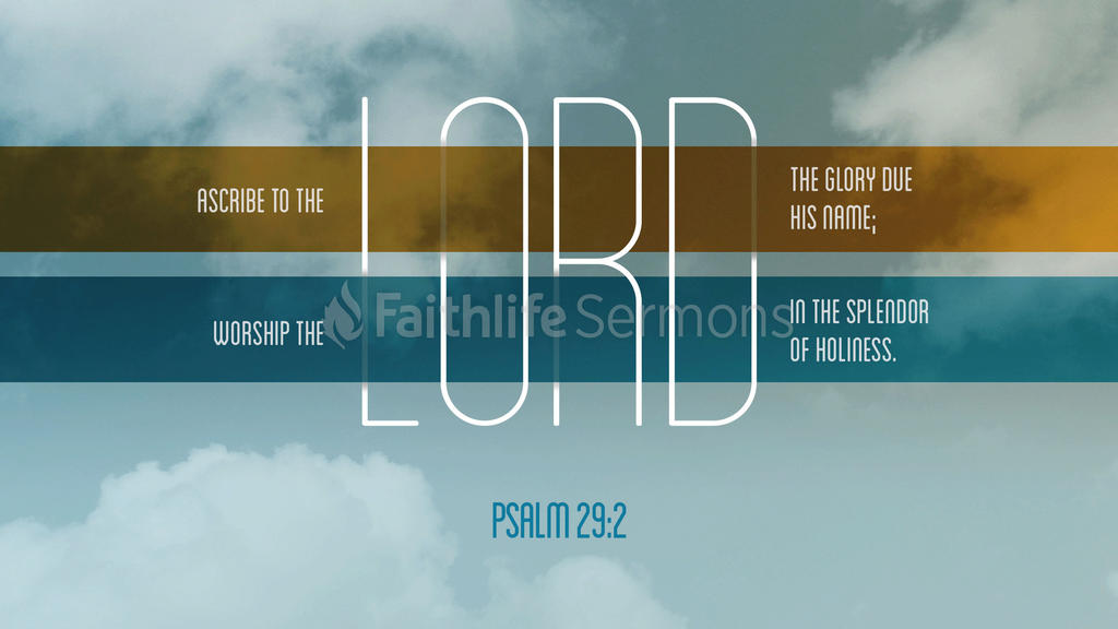 Psalm 29:2 large preview