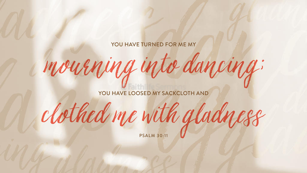 Psalm 30:11 large preview