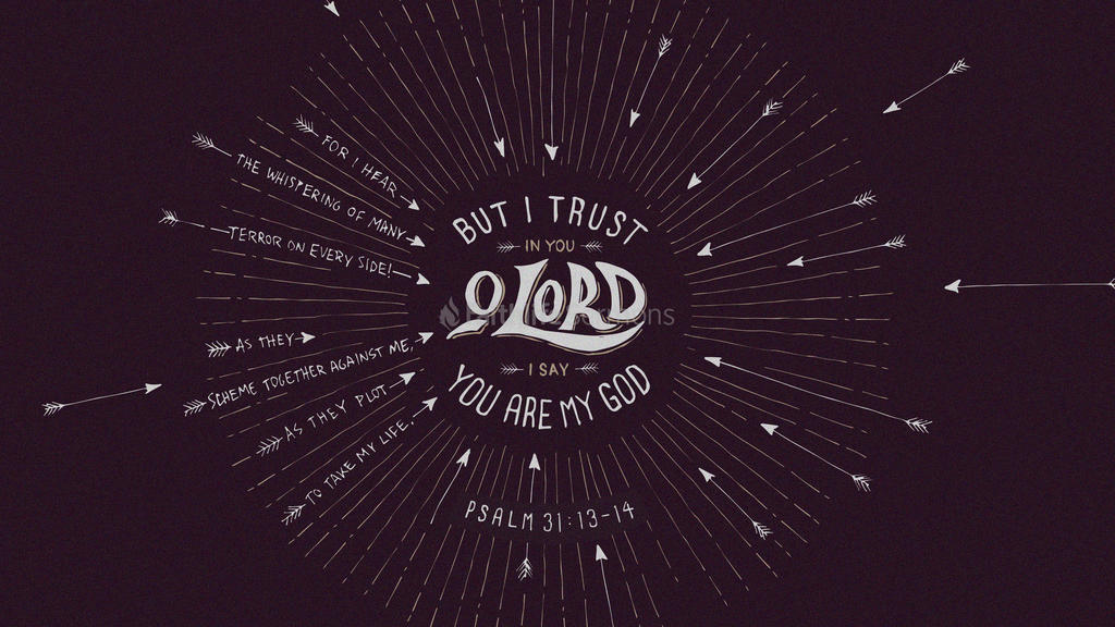 Psalm 31:13–14 large preview