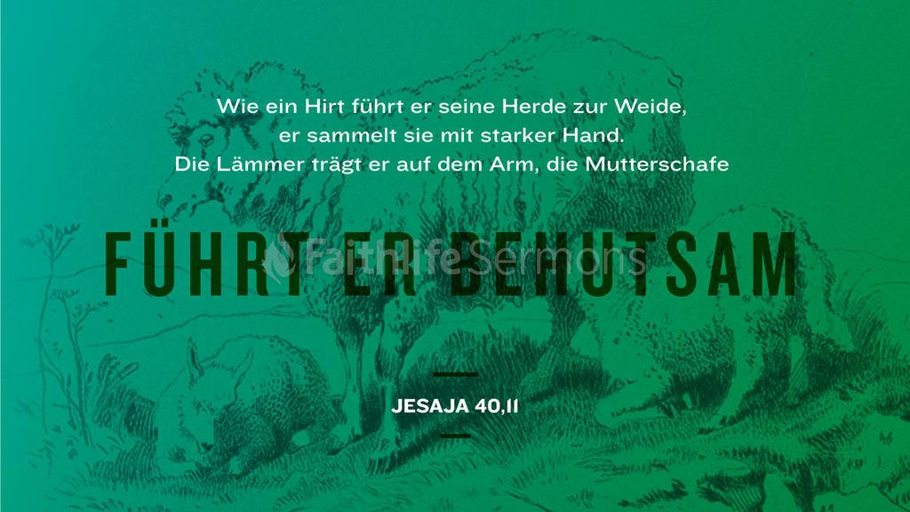 Jesaja 40,11 large preview