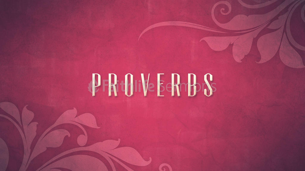 Proverbs large preview