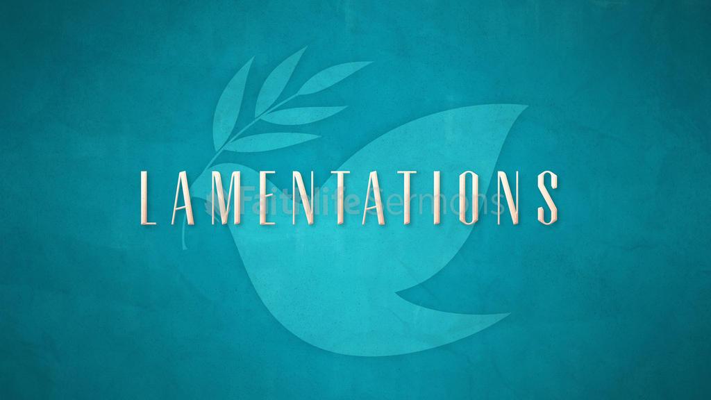 Lamentations large preview