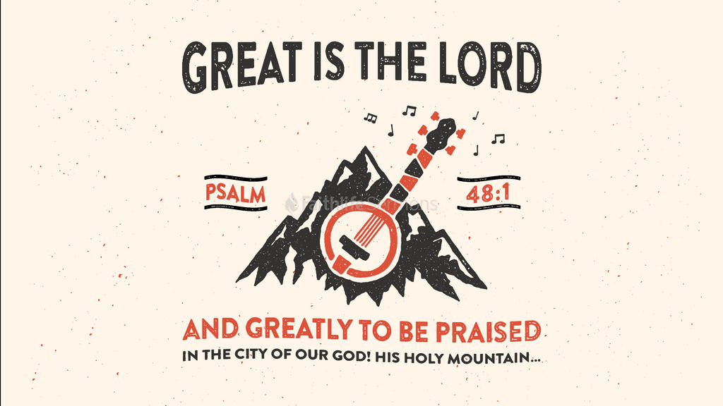Psalm 48:1 large preview