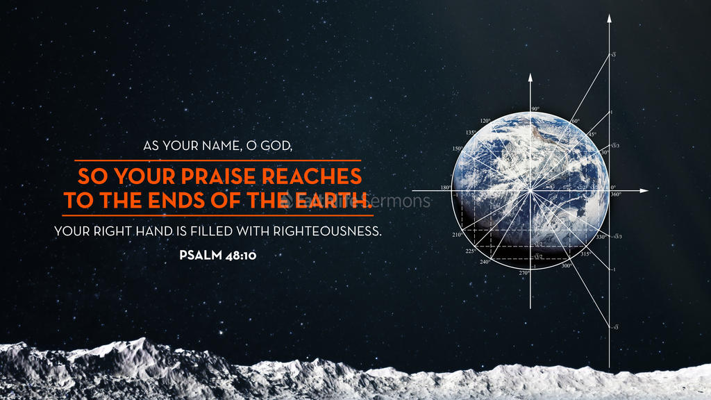 Psalm 48:10 large preview