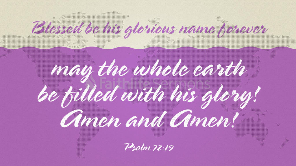 Psalm 72:19 large preview