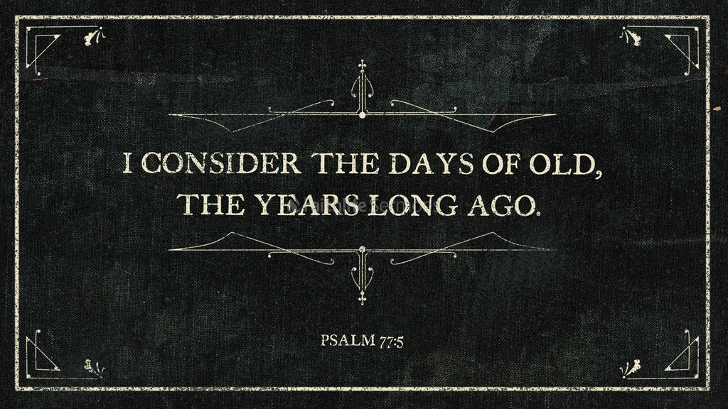 Psalm 77:5 large preview