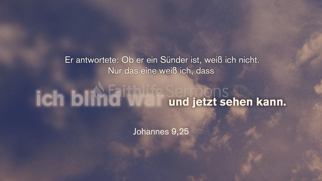 Johannes 9,25 large preview