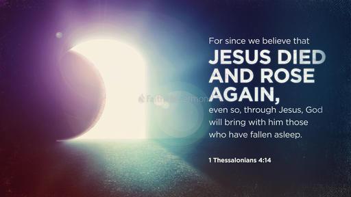 1 Thessalonians 4:14