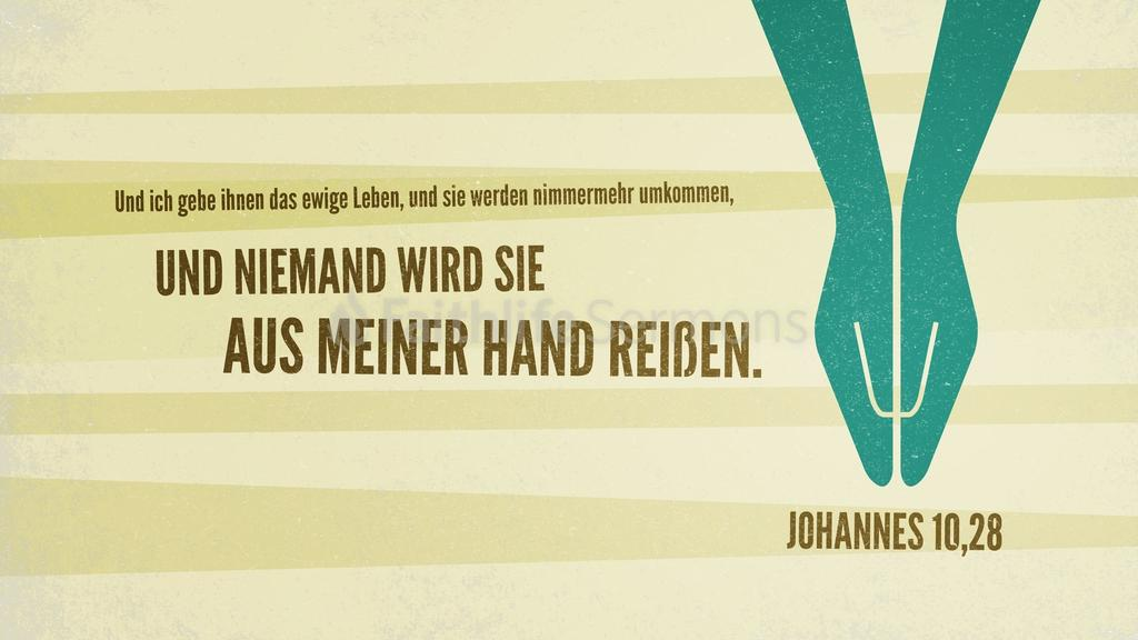 Johannes 10,28 large preview