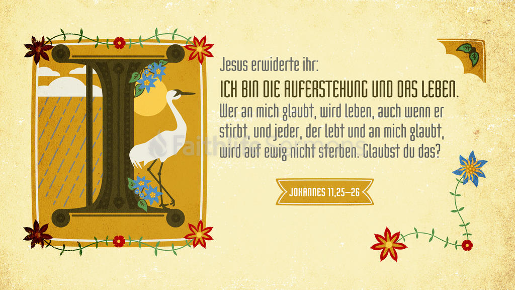 Johannes 11,25–26 large preview