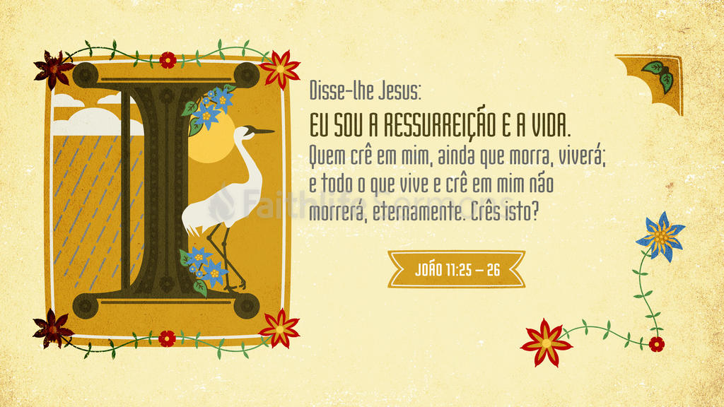 João 11.25–26 large preview