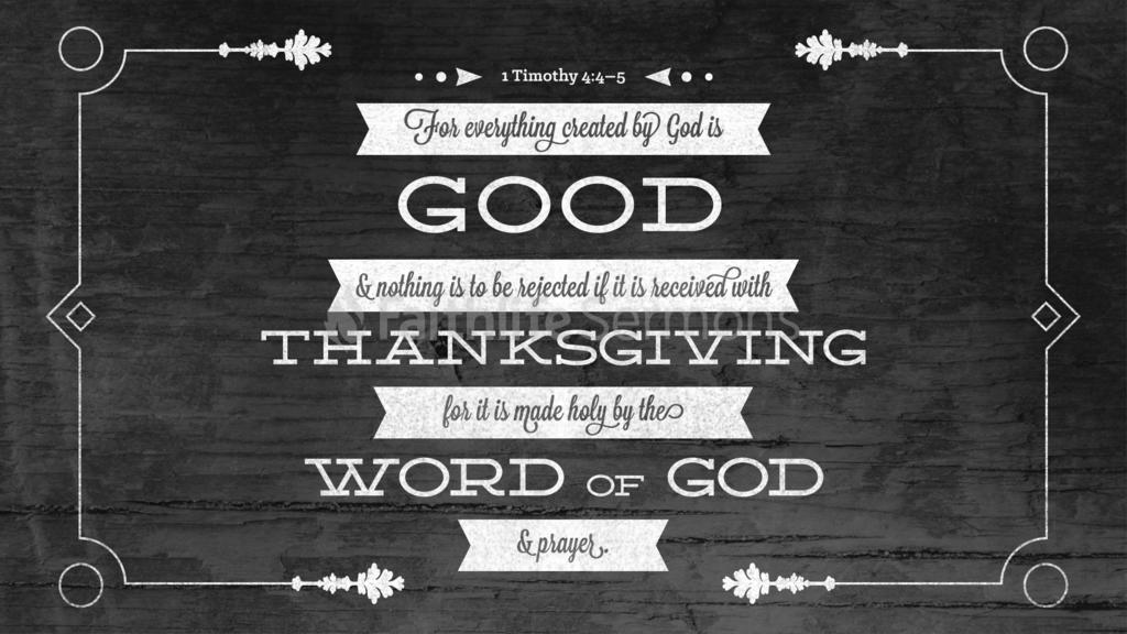 1 Timothy 4:4–5 large preview