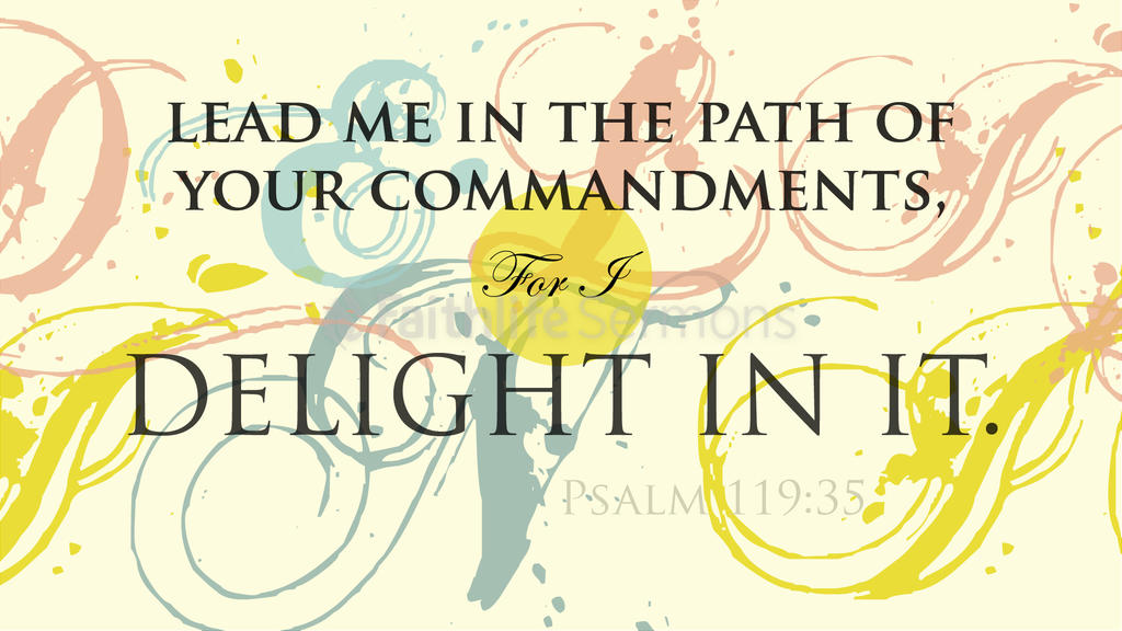 Psalm 119:35 large preview