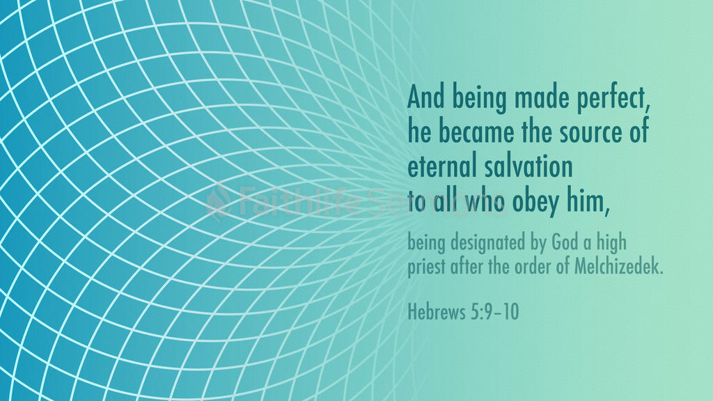 Hebrews 5:9–10 large preview