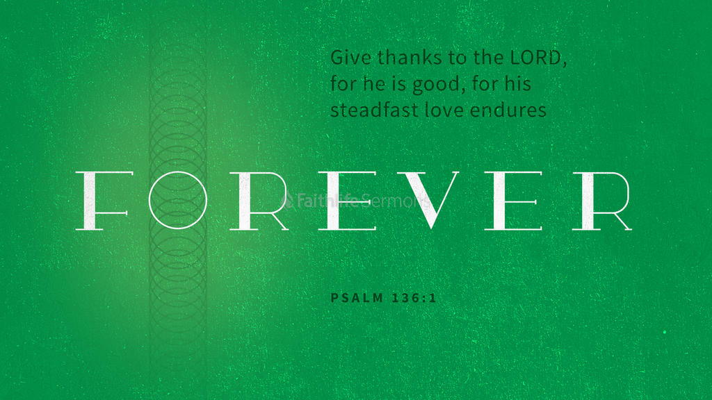 Psalm 136:1 large preview