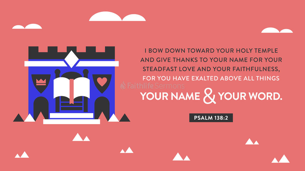 Psalm 138:2 large preview