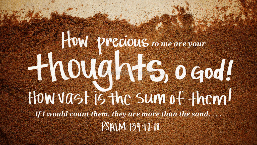 Psalm 139 17 18 3840x2160 preview