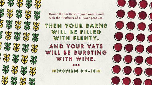 Proverbs 3:9–10