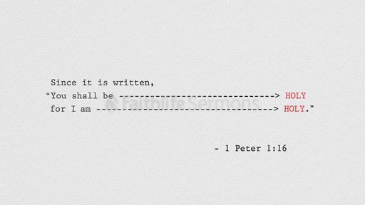 1 Peter 1:16