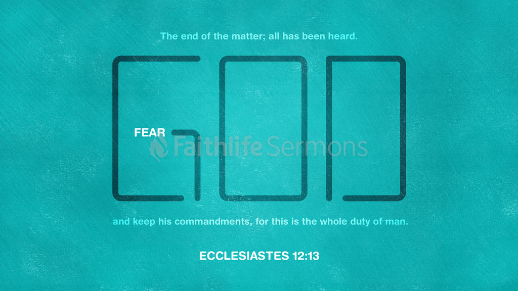 Ecclesiastes 12:13 large preview