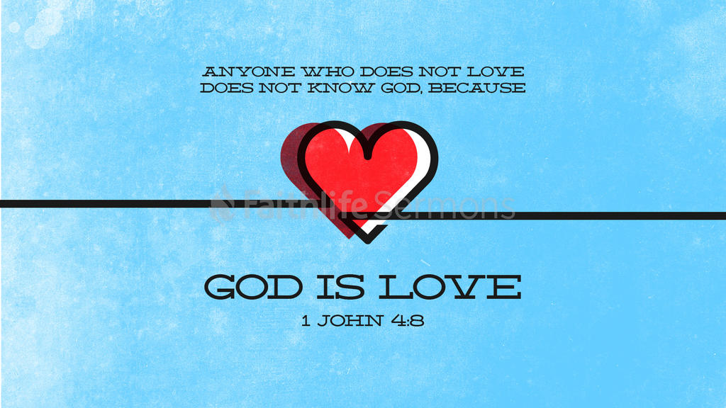 1 John 4:8 large preview