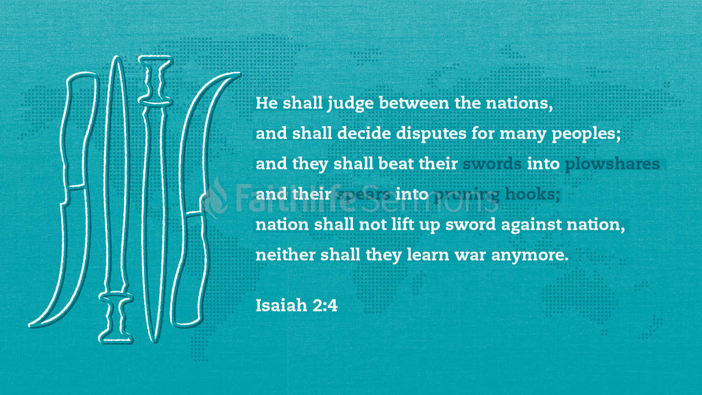 Isaiah 2:4 large preview