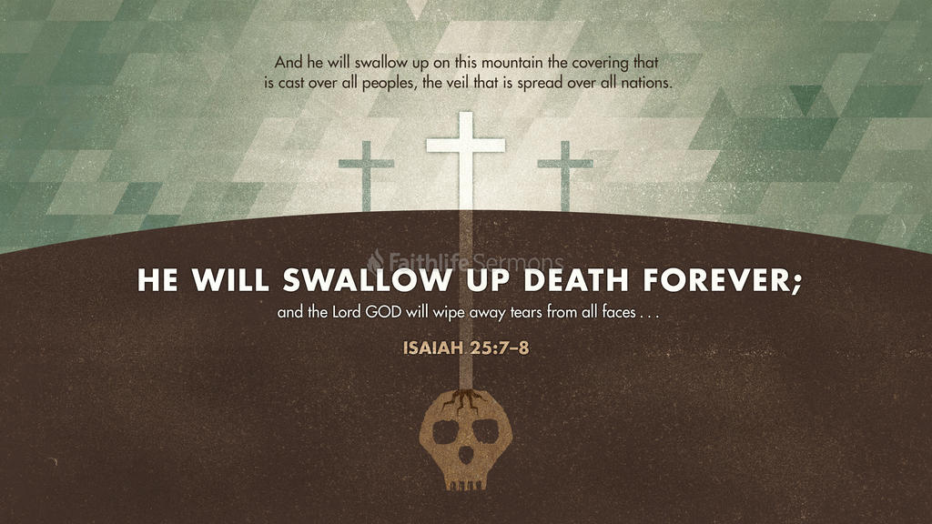 Isaiah 25:7–8 large preview