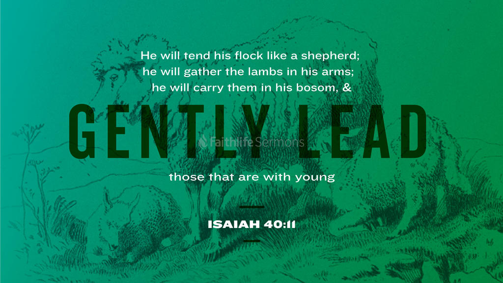 Isaiah 40:11 large preview