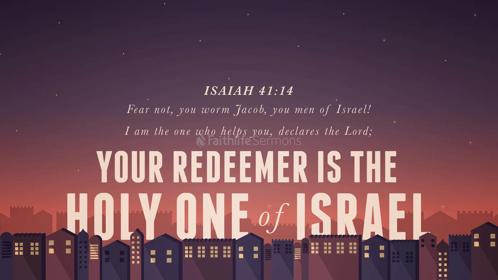 Isaiah 41:14 large preview
