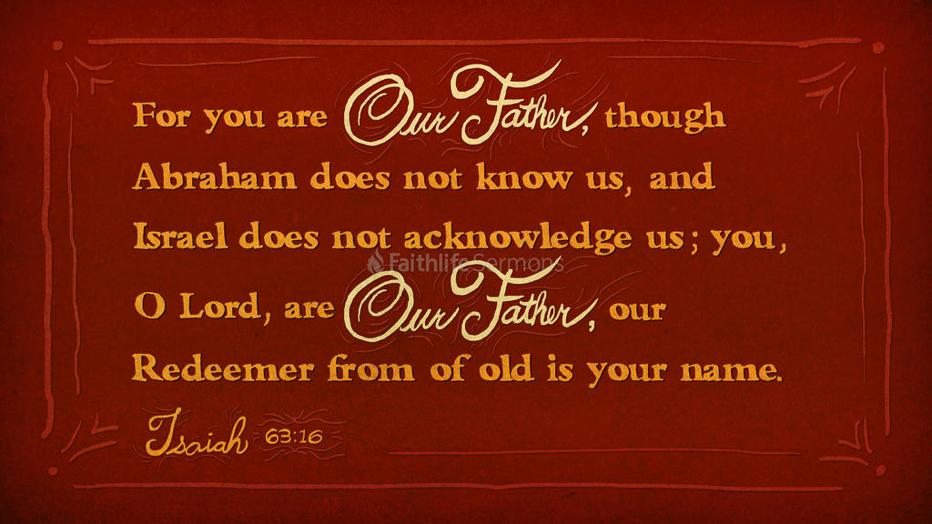 Isaiah 63 16 3840x2160 preview