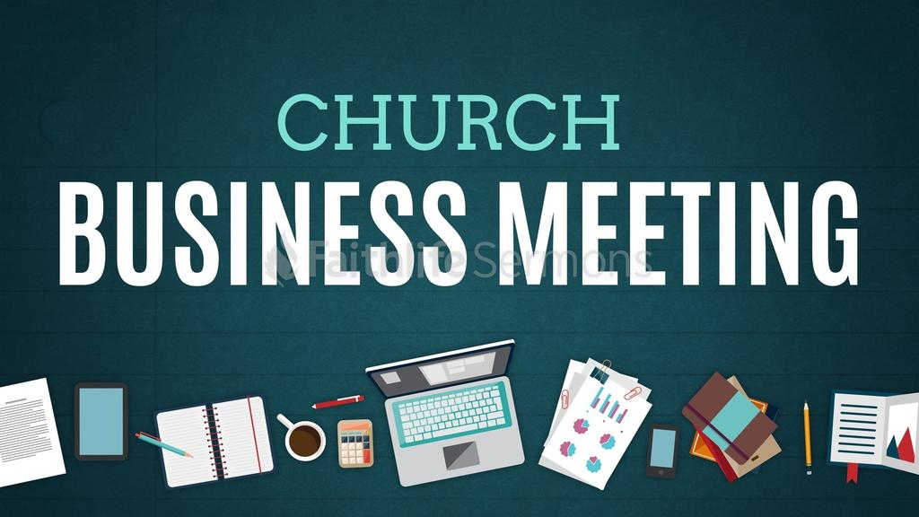 Illustrated Church Business Meeting 16x9 preview