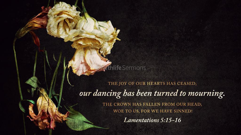 Lamentations 5:16 large preview