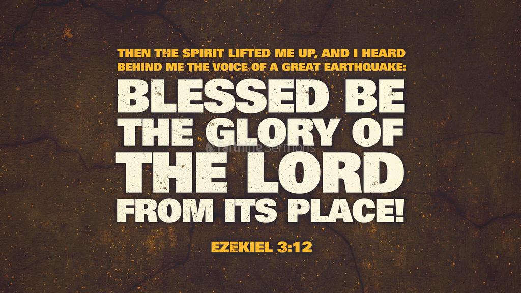 Ezekiel 3:12 large preview