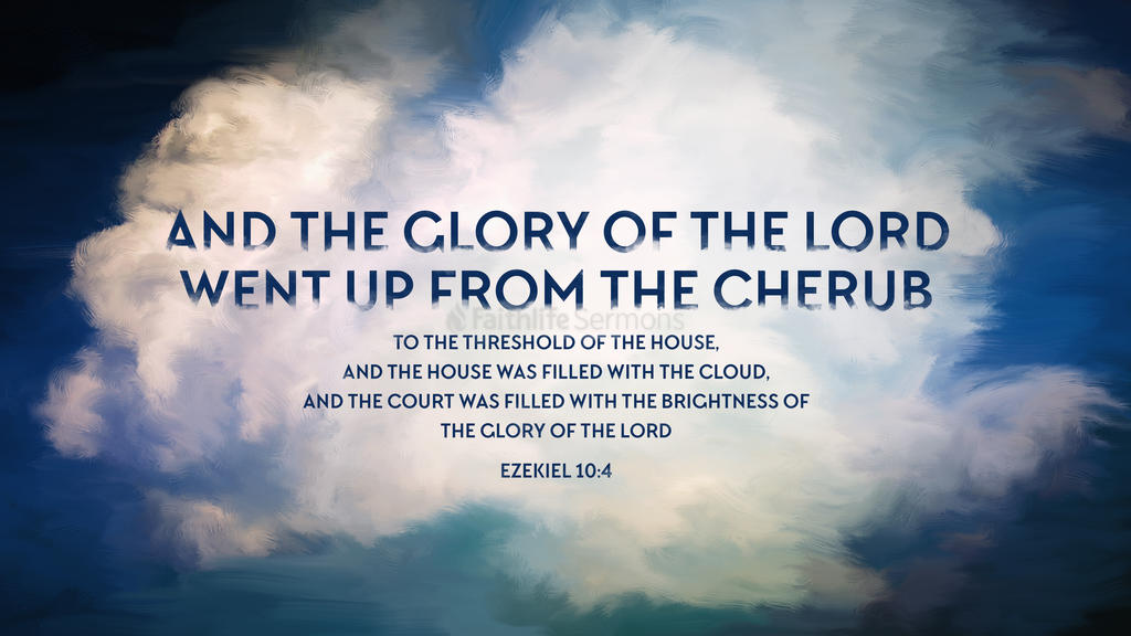 Ezekiel 10:4 large preview
