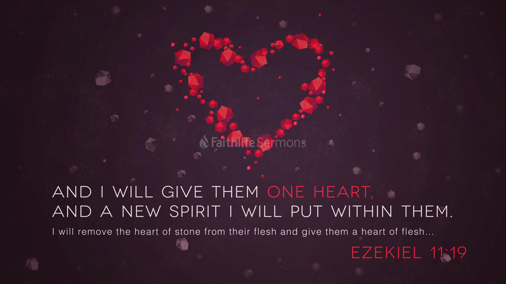 Ezekiel 11:19 large preview