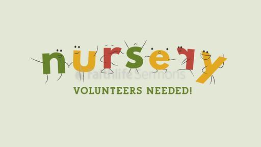 Nursery Volunteers Needed Comic Letters