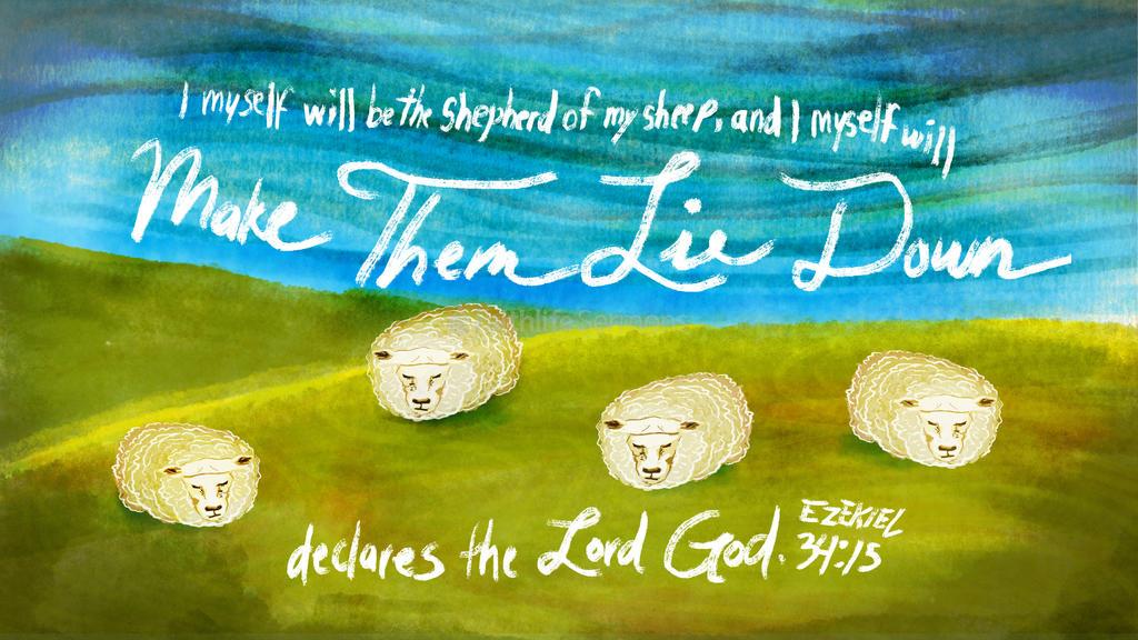 Ezekiel 34:15 large preview