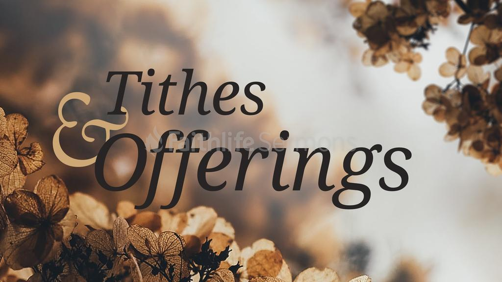foliage tithes and offerings faithlife sermons