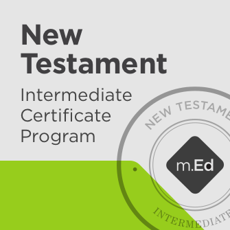 New Testament: Intermediate Certificate Program